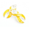 Pendant Cancer Curved Ribbon 23mm Yellow